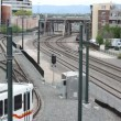 Tram train in denver colorado - Stockfoto