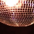 Stock Video: Funky discoball spinning and reflecting light
