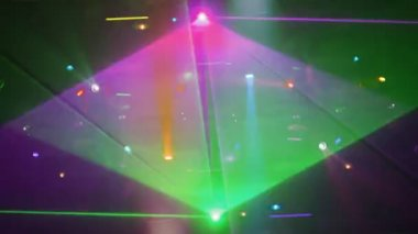 Funky glitterball spinning with patterns of light — Stock Video