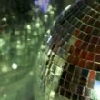Stock Video: Funky glitterball spinning with patterns of light