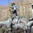 Don Quixote and Sancho PanzStatue — Stock Video #16891647