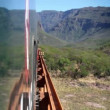 A shot from the el chepe train which passes through the incredible copper canyon — Stock Video #16920611