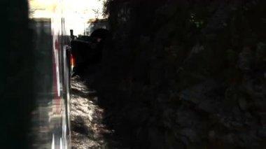 エル chepe からのショットを信じられないほどの銅のキャニオンを通過列車します。 — ストックビデオ