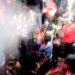 Stock Video: Large crowd on dancefloor and dancing at club in delhi, india