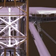 Timelapse shots of the london eye shot from the side - Lizenzfreies Foto