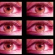 Digital animation of hd screens showing different big brother eyes watching — Stock Video
