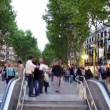 Going up and down a subway entrance in barcelona spain — Stock Video #16948093