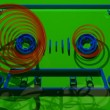Stock Video: Cassette tape build in 3d moving