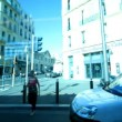 Shot from a tram in the city o marseille — Stockvideo