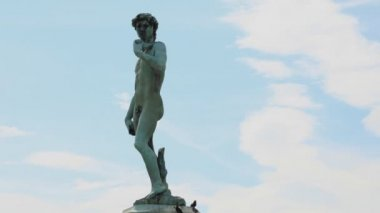 Statue of david in florence — Stockvideo