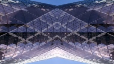 Abstract shot of the swiss RE (gherkin) building in london — Stock Video