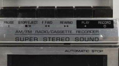 Stopmotion 序列的神奇看复古录音机 — 图库视频影像