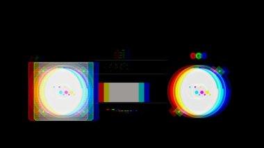 复古录音机与片断日益增长和成形,使整个对象的插图 — 图库视频影像