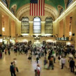 Timelapse of crowds of commuters at new york's grand central station — Stock Video