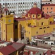Panning timelapse of the beautiful guanajuato city skyline, mexico - Stock Photo