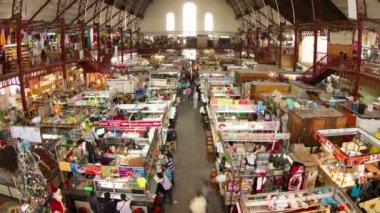 Timelapse view inside guanajuato food market, mexico — Стоковое видео