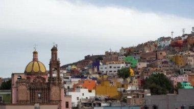 O belo horizonte da cidade de guanajuato, méxico. — Vídeo stock