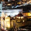 Timelapse at dusk of the beautiful guanajuato city skyline, mexico - Stock Photo