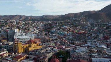 Timelapse at dusk of the beautiful guanajuato city skyline, mexico — Stock Video