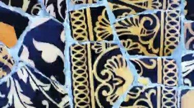 Abstrakte clip gemacht von den bildern der keramikfliesen — Stockvideo