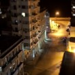 Tilt and shift timelapse looking down onto the street in havana, cuba - Stock Photo
