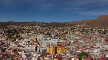 Timelapse of the beautiful guanajuato city skyline, mexico. — Stock Video