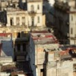 Timelapse of shadows passing over the low rise havana skyline cuba — Stock Video