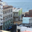 Tilt and shift timelapse of a street scene in havana, cuba — Stock Video