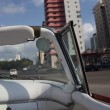 The streets of havana, cuba, filmed from a convertible classic car — Vídeo Stock