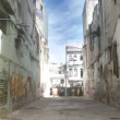 Timelapse of the havana rundown side street, cuba — Stock Video