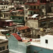 Havana skyline shot from a roof terrace, cuba - Foto Stock