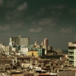 Havana skyline shot from a roof terrace, cuba  — Stock Video