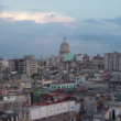 Havana skyline shot from a roof terrace, cuba - Foto de Stock
