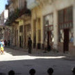 Tilt and shift video of a havana street scene, cuba — Stock Video