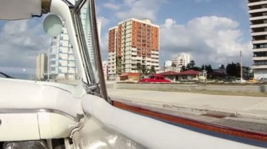 The streets of havana, cuba, filmed from a convertible classic car — Stock Video