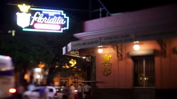 Timelapse du floridita célèbre bar à la havane — Vidéo