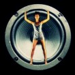 Sexy gogo dancer inside a hifi speaker - Zdjcie stockowe