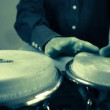Percussion drummer performing — Stock Video