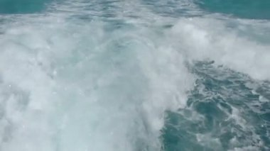 Caribbean water shot from from a moving speedboat — Stock Video