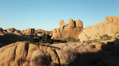 Rock formation in joshua tree national park, california, usa — Stock Video