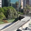 Timelapse of traffic on freeway in downtown los angeles - Stock Photo