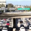 Timelapse of traffic on freeway in downtown los angeles — Stock Video #17601585