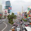 Timelapse shot of the strip with traffic, las vegas, nevada  — Stock Video