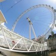 Fisheye timelapse shots of the london eye - Stockfoto