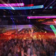 Stock Video: Abstract shot of crowd at nightclub