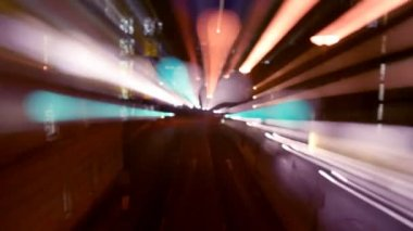 Abstract pattern made from time-lapse traffic and street scene — Stockvideo