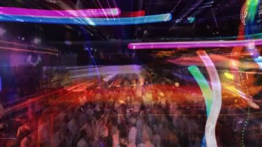 Abstract shot of a crowd at a nightclub — Stock Video