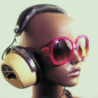 Unique stop motion clip fashion mannequin head — Stok Video #17971971