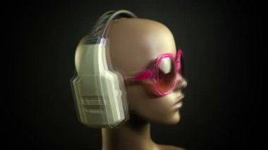 Unique stop motion clip a fashion mannequin head — Stock Video