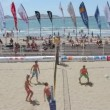 Stock Video: Time-lapse of beach volley game on marseille beach